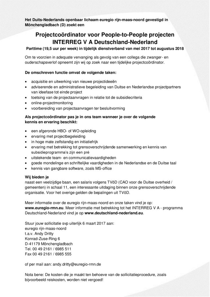 thumbnail of Projectcoordinator people-to-people_NL