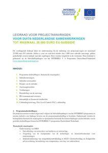 thumbnail of Leidraad projectaanvraag