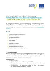 thumbnail of Leitfaden Projektantrag