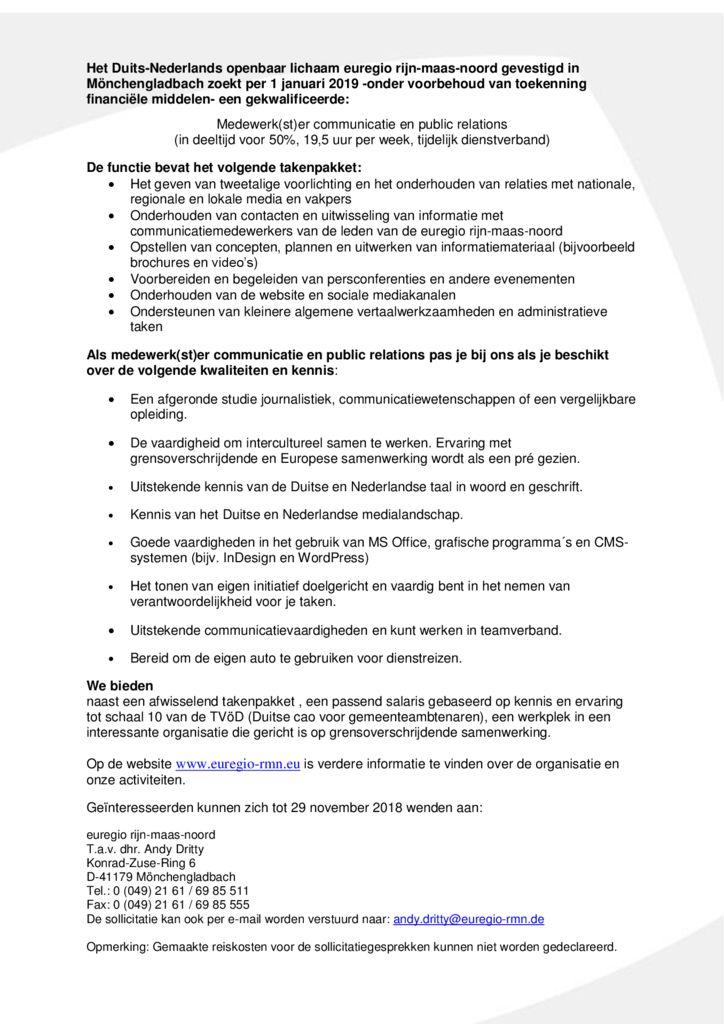 thumbnail of 181030 Stellenausschreibung Presse- und Öffentlichkeitsarbeit_NL